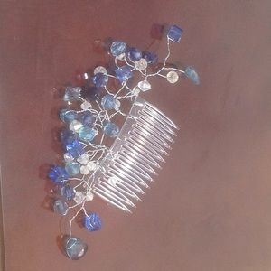 Accessories - Crystal Blue Hair comb